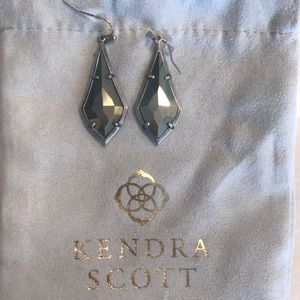 Kendra Scott Pyrite teardrop earrings